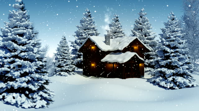 christmas landscape - snow cornice stock videos and b-roll footage