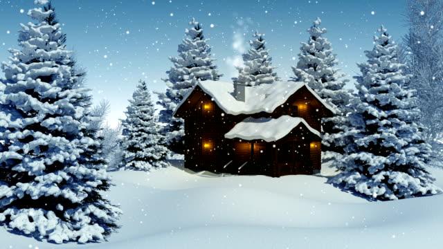 weihnachten landschaft - dorf stock-videos und b-roll-filmmaterial