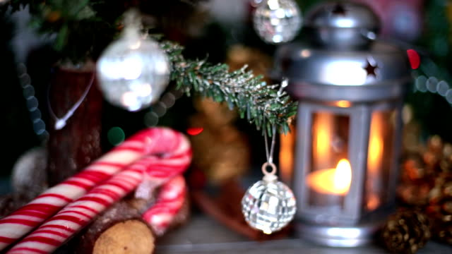 christmas lantern - candy cane stock videos & royalty-free footage