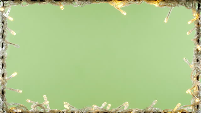 christmas light frame green screen background 4k - christmas lights stock videos & royalty-free footage