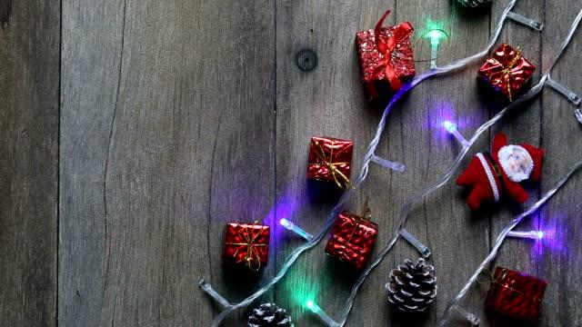 weihnachtsbeleuchtung und dekorationen. - fairy lights stock-videos und b-roll-filmmaterial