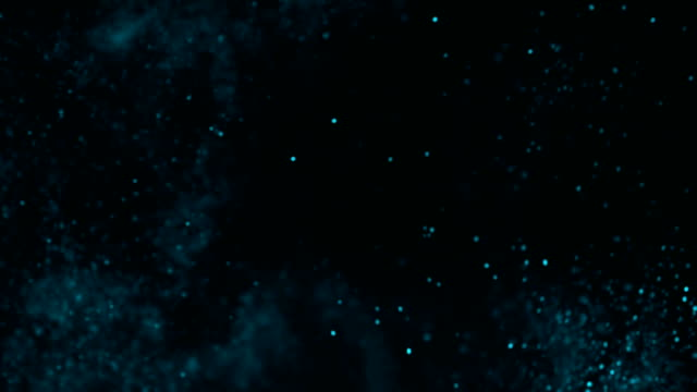 Christmas lights blue defocused background