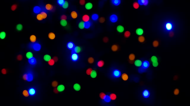 christmas lights flashing is colourful, home decoration - plant bulb stock videos & royalty-free footage