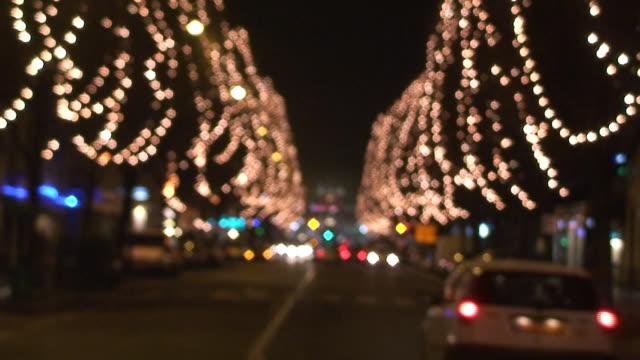 Christmas lights in der Straße