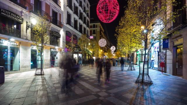 Christmas Lights on Calle Arenal, Madrid - Timelapse