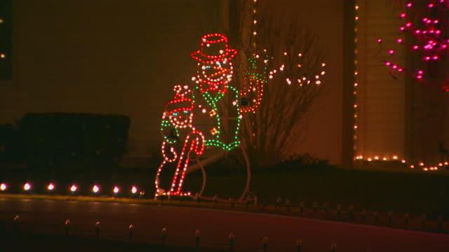Christmas lights, snowmen