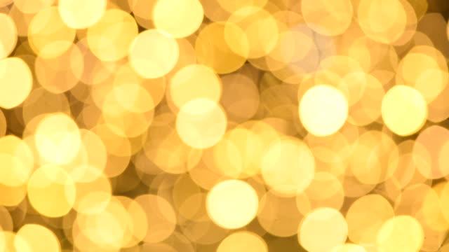 クリスマスライト - オレンジ点の映像素材/bロール