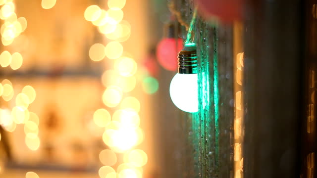 christmas lights - string stock videos and b-roll footage