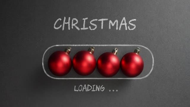 クリスマス ロード - 黒板の休日の装飾赤つまらない - クリスマスの飾り点の映像素材/bロール