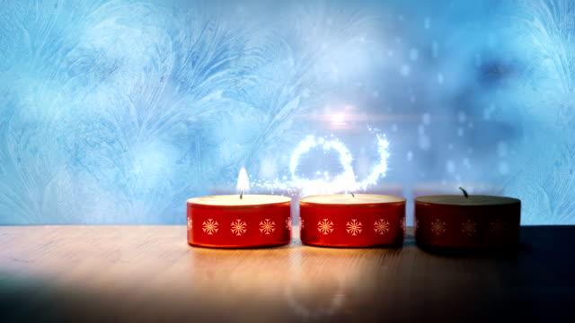 weihnachten magische geschichte - kerze stock-videos und b-roll-filmmaterial