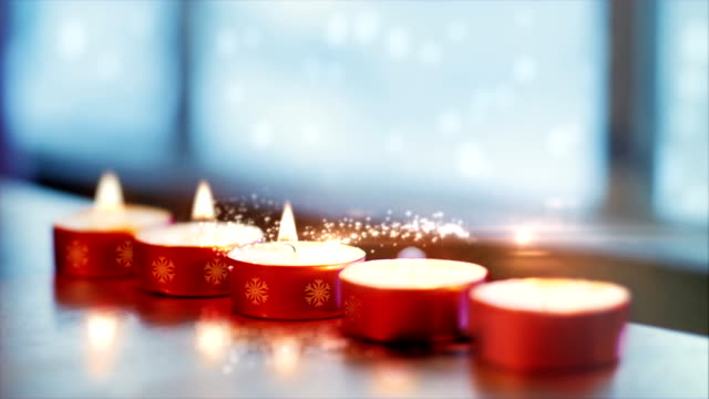 christmas magic - candle stock videos and b-roll footage