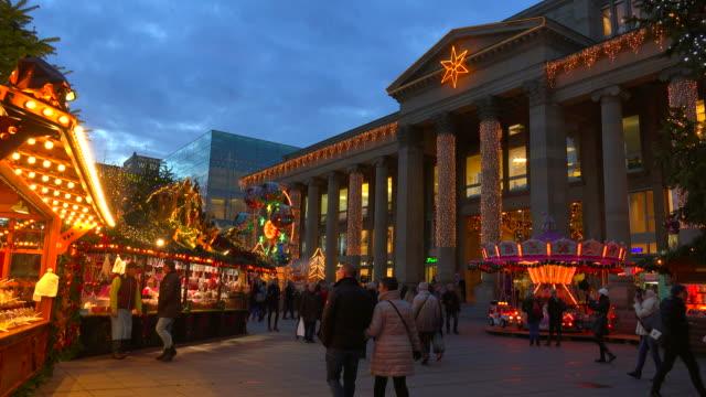 Christmas Market at Koenigsbau, Stuttgart, Baden-Wuerttemberg, Germany