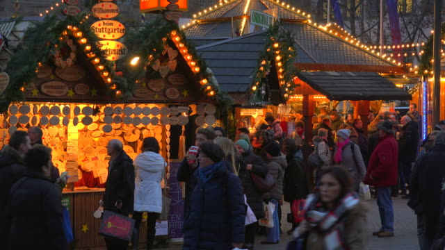 Christmas Market at Palace Square, Stuttgart, Baden-Wuerttemberg, Germany