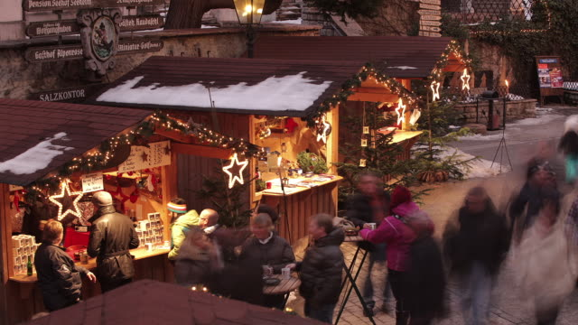 christmas market austria - traditionally austrian stock videos and b-roll footage