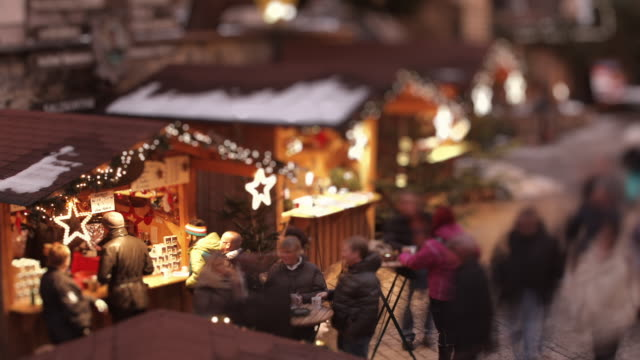 christmas market austria - tilt shift stock videos and b-roll footage