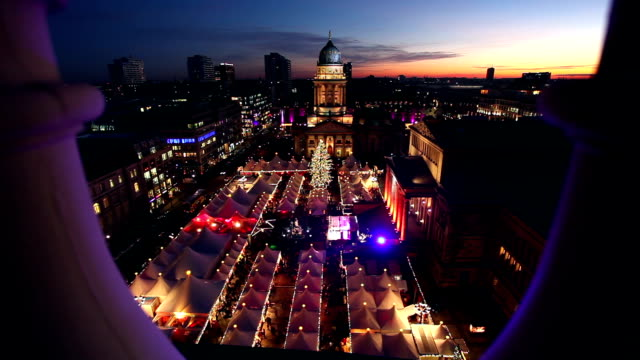 christmas market in berlin - europe stock videos & royalty-free footage
