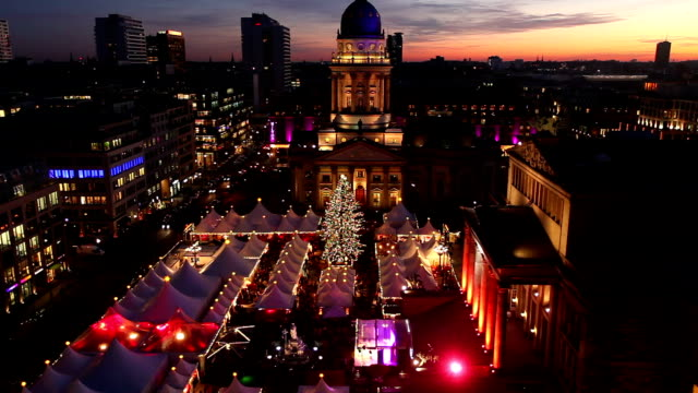 christmas market in berlin - berlin stock videos & royalty-free footage