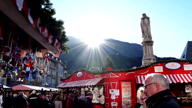 christmas market in bolzano - italian culture stock videos & royalty-free footage