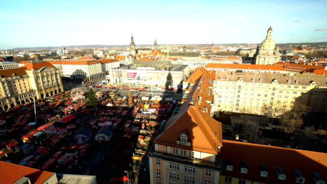 christmas market in dresden, panning - dresden germany stock videos & royalty-free footage