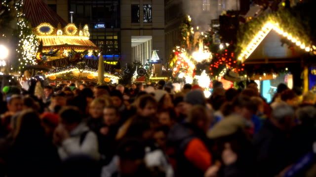 christmas market in dresden, realtime - christmas market stock videos & royalty-free footage