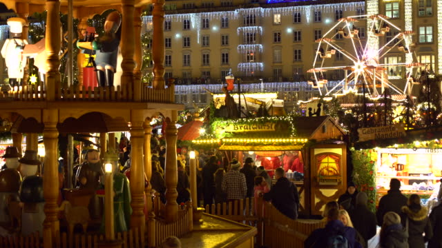 christmas market in dresden - dresden germany stock videos & royalty-free footage