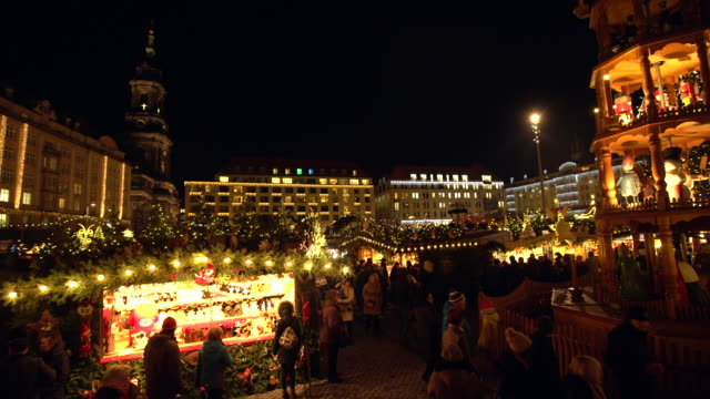christmas market in dresden - christmas market stock videos & royalty-free footage