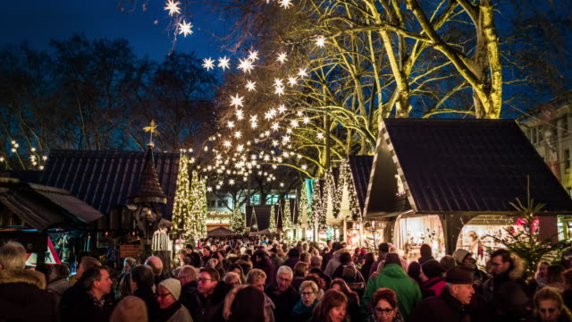 christmas market in germany - christmas market stock videos & royalty-free footage