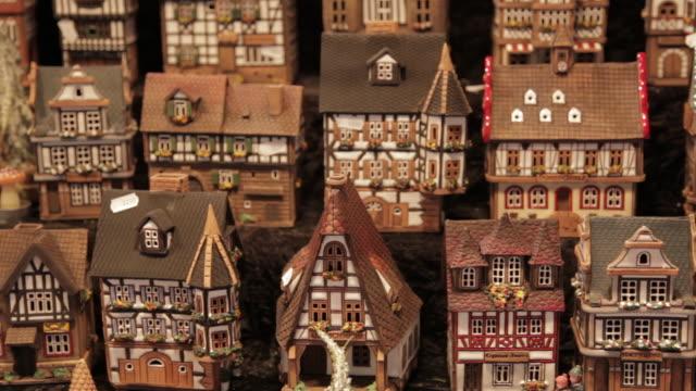 Christmas Market Stall, Houses, Birmingham, West Midlands, England, UK