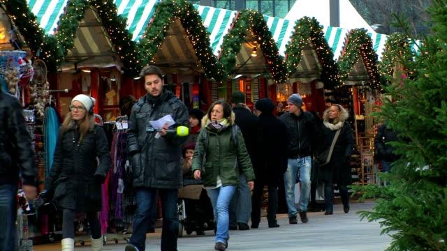 Weihnachtsmarkt, Zeitraffer