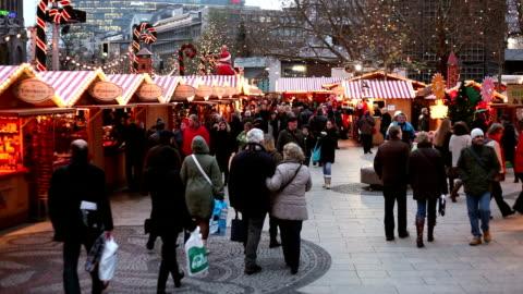 christmas market - public celebratory event stock videos & royalty-free footage
