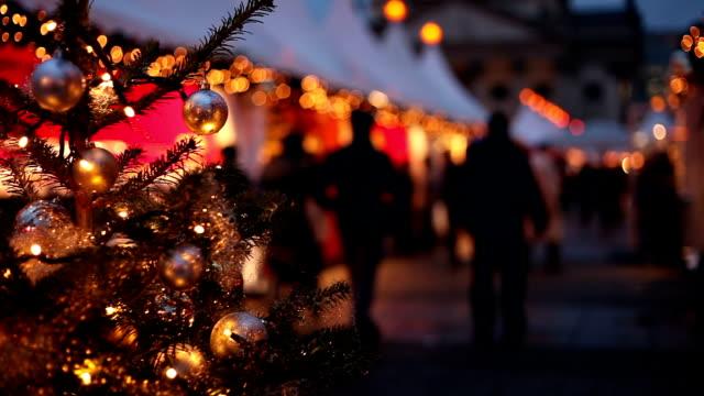christmas market - christmas market stock videos & royalty-free footage