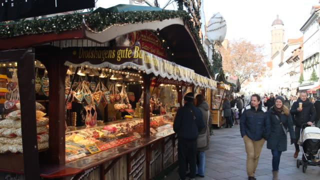 christmas market with christmas decoration in germany visitors are enjoying arts and crafts and are tasting drinks like mulled wine or snacks like a... - advent calendar stock videos & royalty-free footage