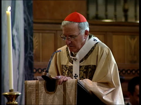 iraq; cardinal cormac murphy-o'connor christmas message sot - must not assume that war is inevitable - cormac murphy o'connor stock videos & royalty-free footage