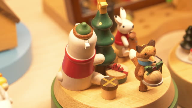 christmas music box - christmas tree lighting ceremony stock videos & royalty-free footage
