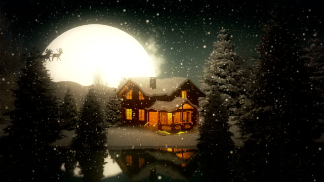 christmas night | lake house - frost stock videos & royalty-free footage