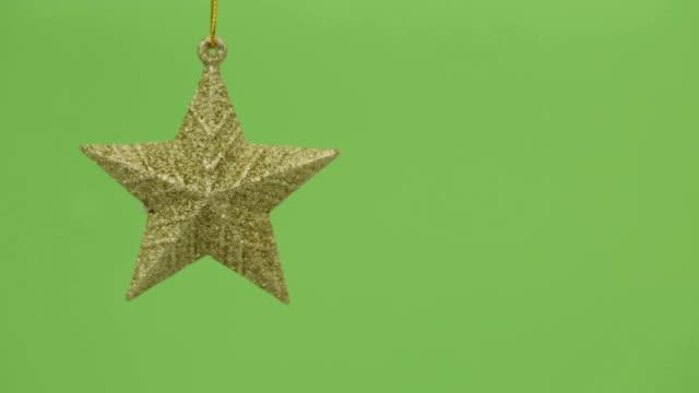 クリスマスの装飾金色 - クリスマスの飾り点の映像素材/bロール