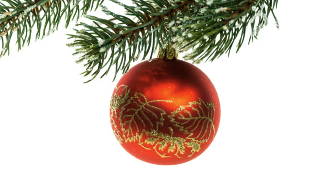christmas ornament on twig - twig stock videos & royalty-free footage