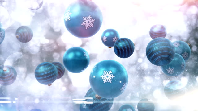 christmas ornaments falling (blue) - loop - tripping falling stock videos and b-roll footage