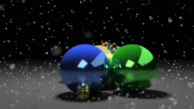 christmas ornaments loop - snowflake stock videos & royalty-free footage