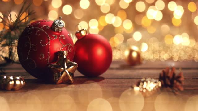 多重ライトのクリスマス飾り。装飾ボケ ブルー ゴールド - クリスマスカード点の映像素材/bロール