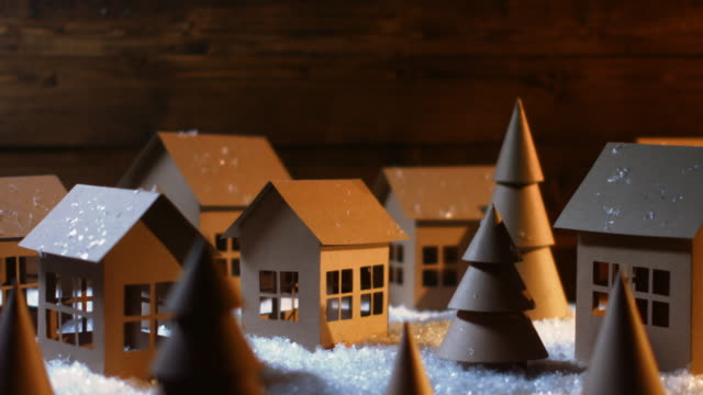 christmas - paper houses - decor stock videos & royalty-free footage