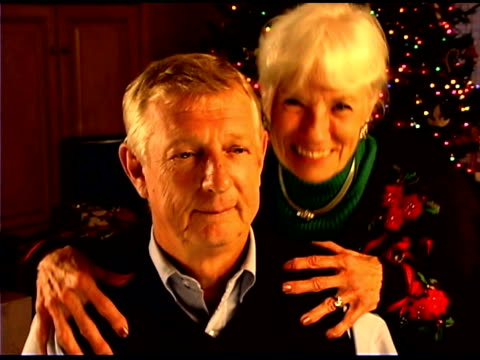 christmas portrait of senior couple  - see other clips from this shoot 1407 stock videos and b-roll footage