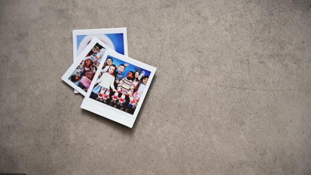 christmas preschool instant print transfer - polaroid video stock e b–roll
