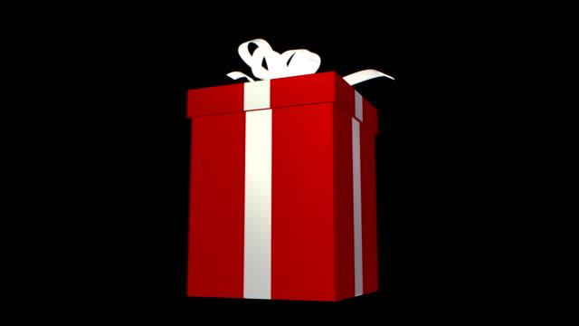 christmas - present and ribbon 2 kinds - christmas gift stock videos & royalty-free footage