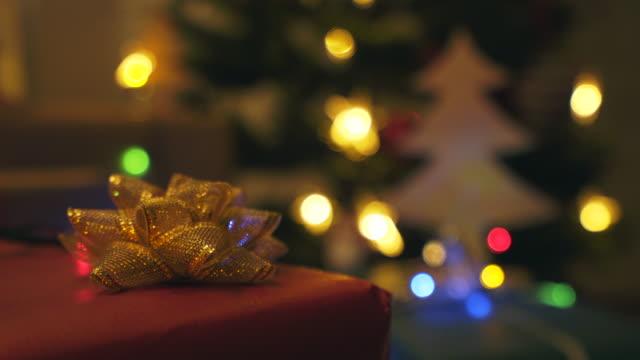 Kerstcadeau close-up.