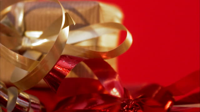 christmas presents sweden. - ribbon bow stock videos & royalty-free footage