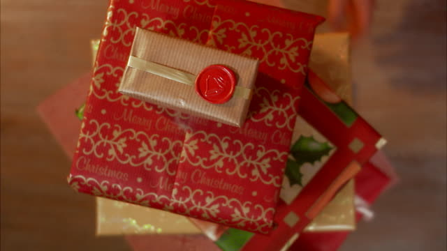 christmas presents sweden. - gift box stock videos & royalty-free footage