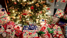 christmas presents under tree