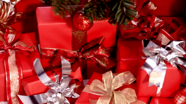 christmas presents - christmas paper stock videos and b-roll footage
