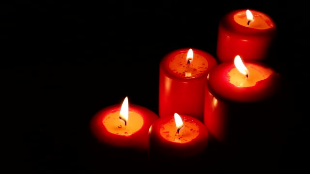 christmas red candle decoration - advent stock videos & royalty-free footage
